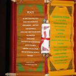 Zidni brokat iz himalaja s mantrom Guru Rinpoche-a.